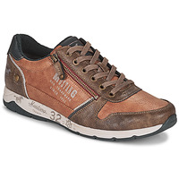 Shoes Men Low top trainers Mustang BRICA Brown