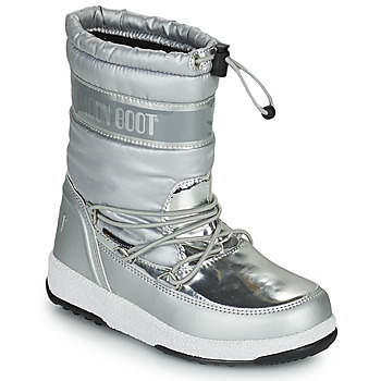 Shoes Girl Snow boots Moon Boot MOON BOOT JR GIRL SOFT WP Silver
