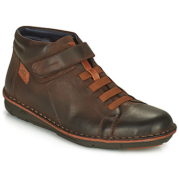 Shoes Men High top trainers Fluchos ALFA Brown
