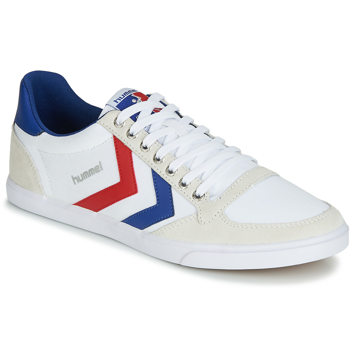 Hummel TEN STAR LOW CANVAS White / Red / Blue