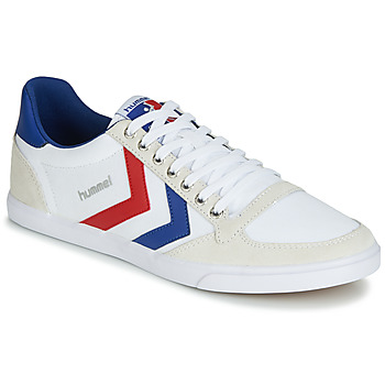 Trainers Hummel TEN STAR LOW CANVAS White / Red / Blue 350x350