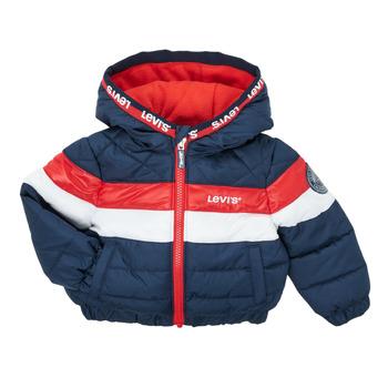 material Boy Duffel coats Levi's COLORBLOCK JACKET Blue / Red / Et  / White