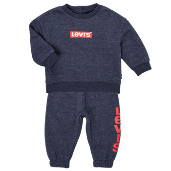 material Boy Sets & Outfits Levi's KNIT CREW JOGGER SET Grey