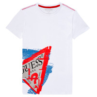 material Boy short-sleeved t-shirts Guess LISTIN White