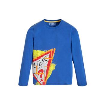 material Boy Long sleeved shirts Guess LISTIN Blue