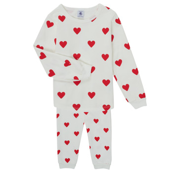 material Girl Sleepsuits Petit Bateau CASSANDRE White / Red