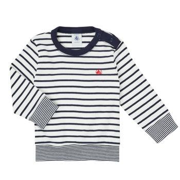 material Boy Long sleeved shirts Petit Bateau IGRAE White / Blue