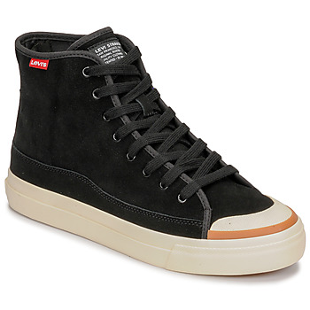 Shoes Men High top trainers Levi's SQUARE HIGH Black