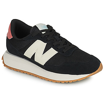 Shoes Women Low top trainers New Balance 237 Black / White / Pink