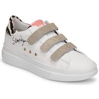 Shoes Women Low top trainers Semerdjian BARRY White / Gold