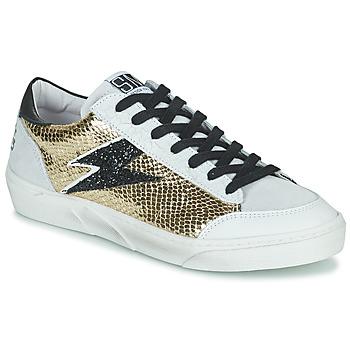 Shoes Women Low top trainers Semerdjian ELISE Beige / Gold / Black