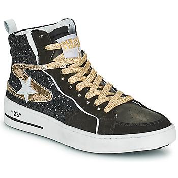 Shoes Women High top trainers Semerdjian MARAL Black / Gold