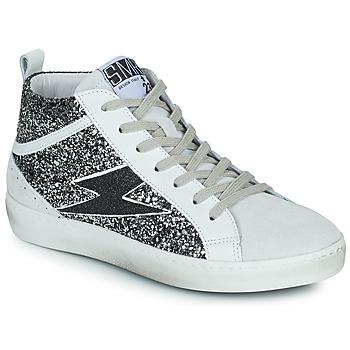 Shoes Women High top trainers Semerdjian ALFA Beige / Black