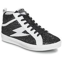Shoes Women High top trainers Semerdjian ALFA Black / White