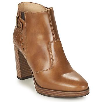 Shoes Women Ankle boots NeroGiardini DAIKONO Cognac