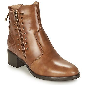 Shoes Women Ankle boots NeroGiardini ENDIVO Cognac