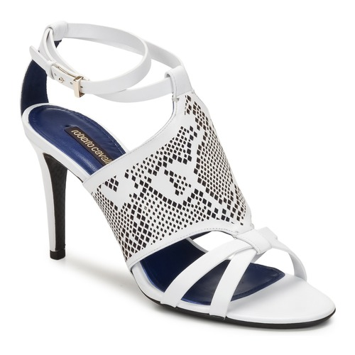 Shoes Women Sandals Roberto Cavalli TPS016 White