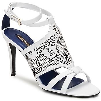 Sandals Roberto Cavalli TPS016 White 350x350