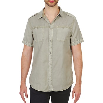 material Men short-sleeved shirts Chevignon HOOP TWILL BEIGE