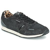 Shoes Women Low top trainers Diesel METAL Black