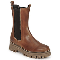 Shoes Women Mid boots Sweet Lemon POLIRA Cognac