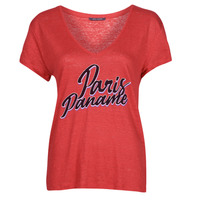 material Women short-sleeved t-shirts Ikks CARRY Red