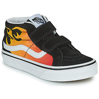 Shoes Boy High top trainers Vans SK8-MID Black / Red