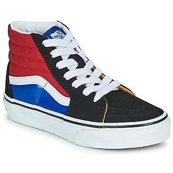 Shoes Boy High top trainers Vans SK8-HI Black / Red / Blue