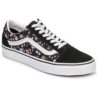 Shoes Women Low top trainers Vans OLD SKOOL Black / Floral