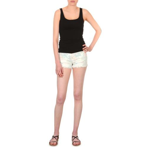 material Women Shorts / Bermudas School Rag SELENA FLOWERS White / Imprime / Flower