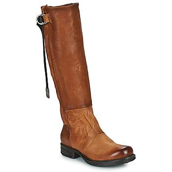 Shoes Women Boots Airstep / A.S.98 SAINTEC HIGH Camel