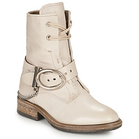 Shoes Women Mid boots Airstep / A.S.98 FLOWER BUCKLE Beige