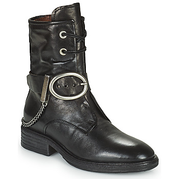 Shoes Women Mid boots Airstep / A.S.98 FLOWER BUCKLE Black