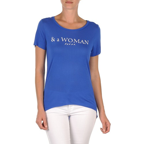 material Women short-sleeved t-shirts School Rag TEMMY WOMAN Blue