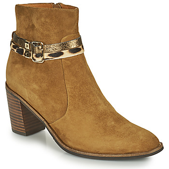 Shoes Women Ankle boots Mam'Zelle NESSY Camel
