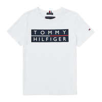 material Boy short-sleeved t-shirts Tommy Hilfiger TERRAD White