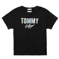 material Girl short-sleeved t-shirts Tommy Hilfiger SAMIA Black