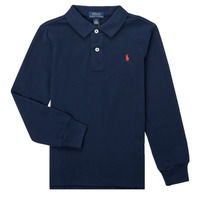 material Boy long-sleeved polo shirts Polo Ralph Lauren POULINE Marine