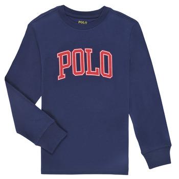 material Boy Long sleeved shirts Polo Ralph Lauren METIKA Marine