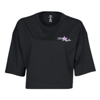 material Women short-sleeved t-shirts Converse CHUCK INSPIRED HYBRID FLOWER OVERSIZED CROPPED TEE Black