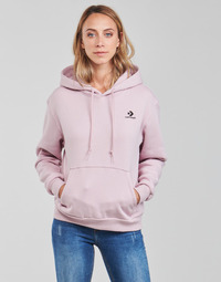 material Women sweaters Converse WOMENS EMBROIDERED STAR CHEVRON PULLOVER HOODIE BB Violet