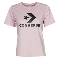 material Women short-sleeved t-shirts Converse STAR CHEVRON CENTER FRONT TEE Violet