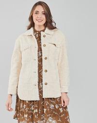 material Women coats Esprit LL F SHRLG SHKT Beige