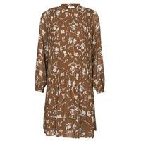 material Women Short Dresses Esprit PER CHIFFON PRI Brown