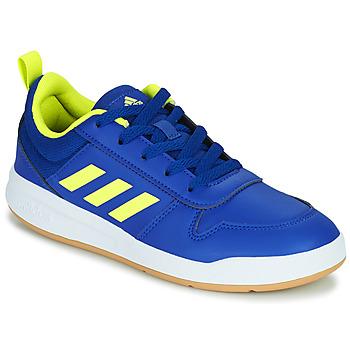 Shoes Children Low top trainers adidas Performance TENSAUR K Blue / Fluorescent