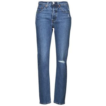 material Women Boyfriend jeans Levi's 501 CROP Blue