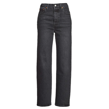 material Women straight jeans Levi's RIBCAGE STRAIGHT ANKLE Grey / Dark