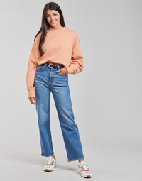 material Women straight jeans Levi's RIBCAGE STRAIGHT ANKLE Blue