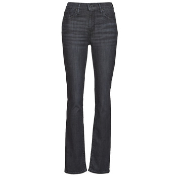material Women straight jeans Levi's 725 HIGH RISE STRAIGHT Black