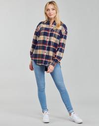 material Women Skinny jeans Levi's 712 SKINNY Blue